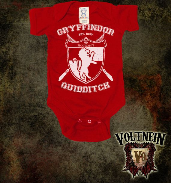 Gryffindor Quidditch Baby Onesie on Etsy, $11.50