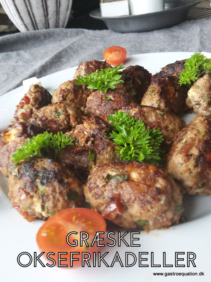Græske oksefrikadeller smager fantastisk. Her i en low fodmap venlig udgave uden hvidløg og løg, men med samme lækre smag af sommer, også god som buffetret.