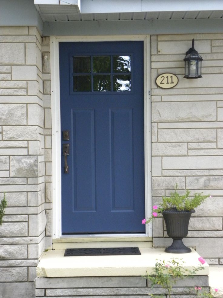 Benjamin Moore Newburyport Blue - Google Search - back door