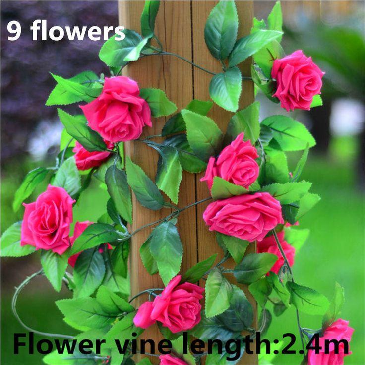 Украшения дома моделирования винограда 2.4 м с 9 выросла украшения сада современный стиль трубы украшенные свадебные украшения ротанг