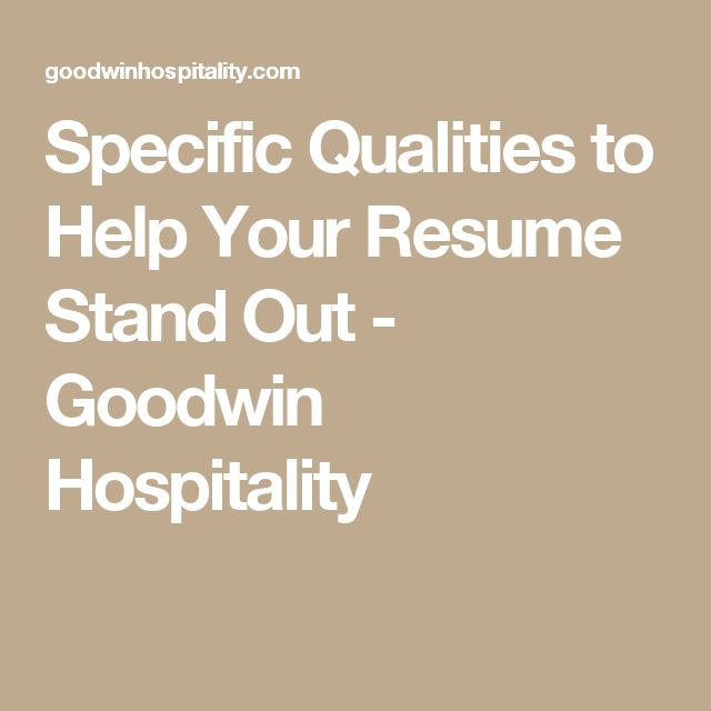 45 best Work images on Pinterest Job interviews, Resume tips and - resume for hospitality