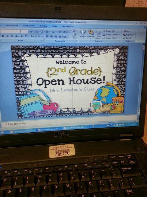 powerpoint template teaching ideas pinterest book open house