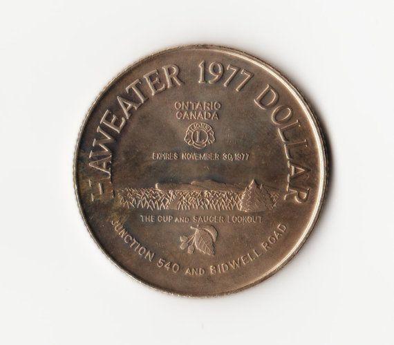 Manitoulin Island  Haweater 1977  One Dollar Coin  by HannahsStuff