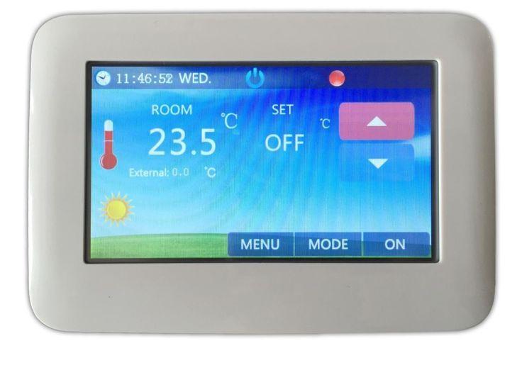 LKM Termostato Touchscreen Con WI-FI per casa e ufficio, per impianti riscaldamento a pavimento e a muro, con display da 4,3 pollici, possibilità d'impostare sessioni d'accensione dell'impianto, con sensori temperatura pavimento, aria e parete -: Amazon.it: Fai da te