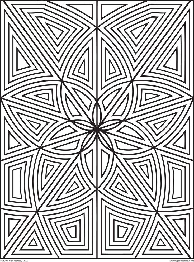 168 best mandals images on pinterest | coloring books, free ... - Geometric Patterns Coloring Pages