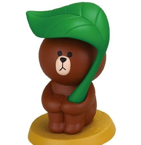 LINE Character APP Gatcha Capsule Desktop Items Part2 Brown Pen Stand