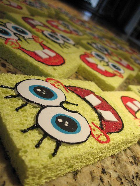 Spongebob invitations by Isabella's sweet tooth (johanna), via Flickr
