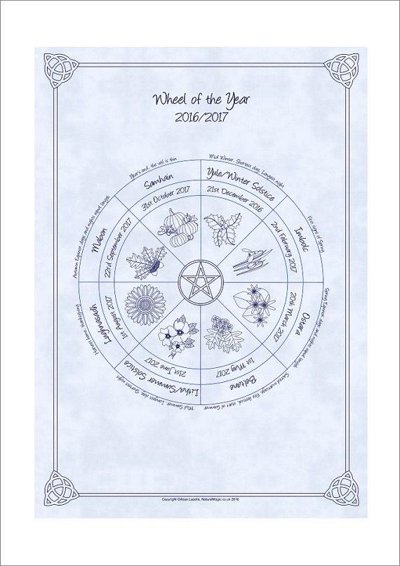 Wheel of the Year Pagan / Wiccan Sabbat by NaturalMagicArt on Etsy