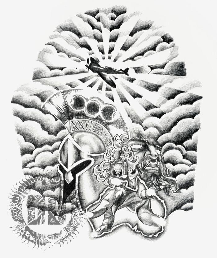 Cloud tattoo designs drawings