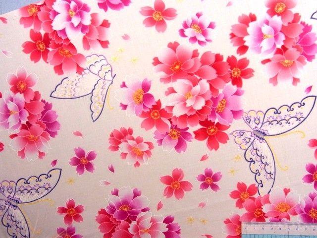 Japanse stof Sakura van Sakura Crea Deco op DaWanda.com