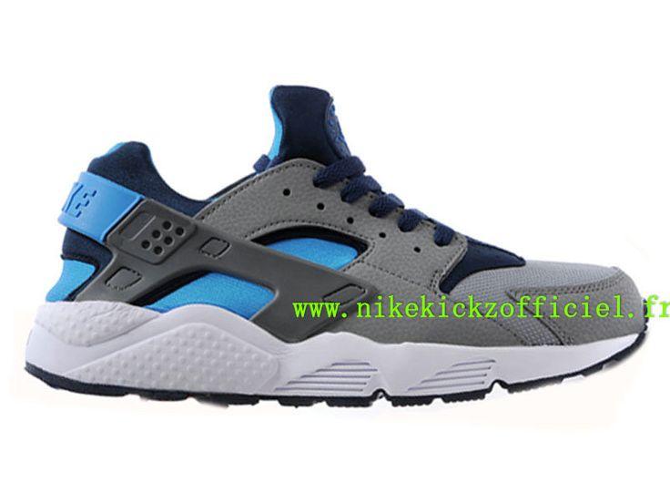 Site Nike Air Huarache Chaussures Nike Sportswear Pas Cher Pour Homme Gris/Bleu 318429-044