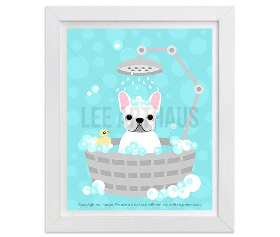 19G  French Bulldog Drawing  White French Bulldog in by leearthaus