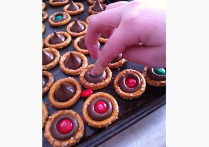 Pretzels rellenos - Postres de Navidad, Recetas de Navidad, Christmas recipes, Christmas desserts
