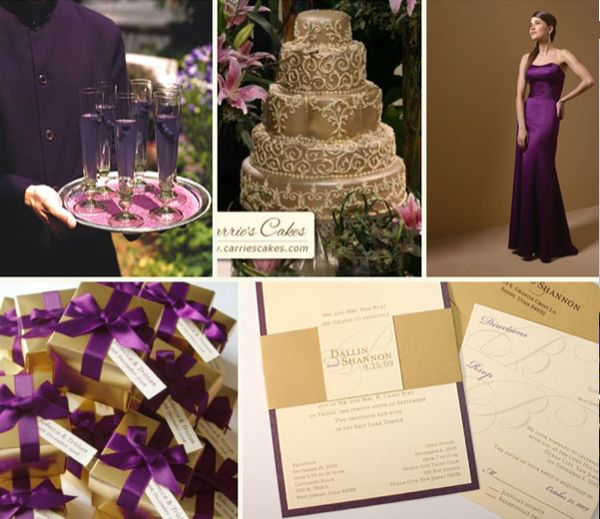 Plum And Gold Wedding Colors