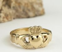 Gold Claddagh Rings: Mens, Womens from $120 | 100% Irish