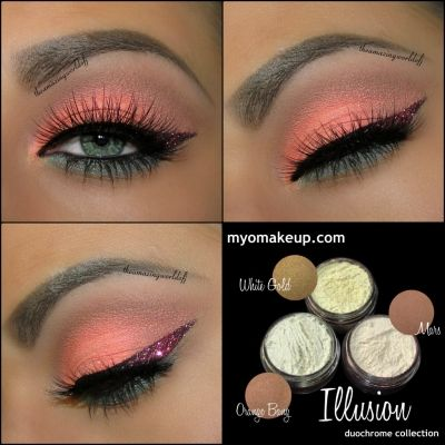 3 Piece Myo Eyeshadow Pigment Illusion Duochrome Set Mica Cosmetic Mineral Makeup Limited Edititon