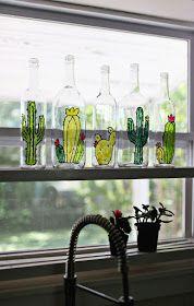 Ζωγραφίστε κακτόκηπους πάνω σε άδεια γυάλινα μπουκάλια!