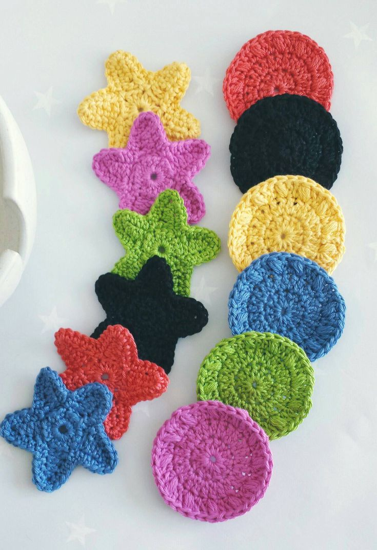 Rainbow face scrubbies, star or round pads. Set of 6 for cleansing, exfoliating …