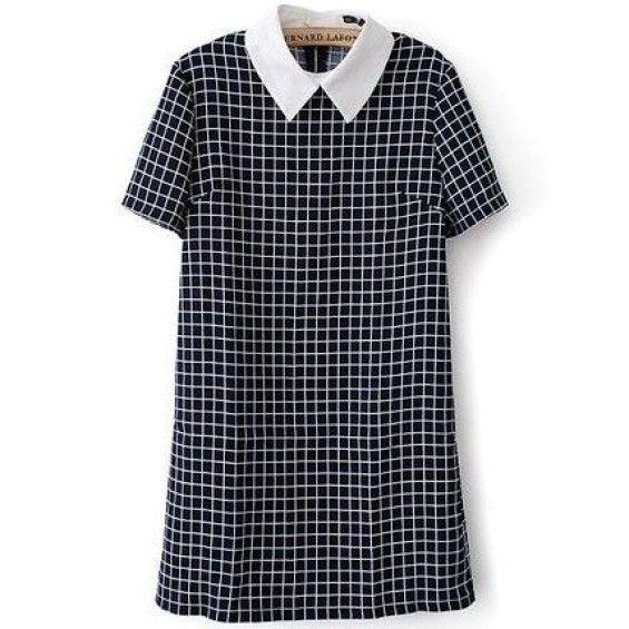 Plaid Collar Dress