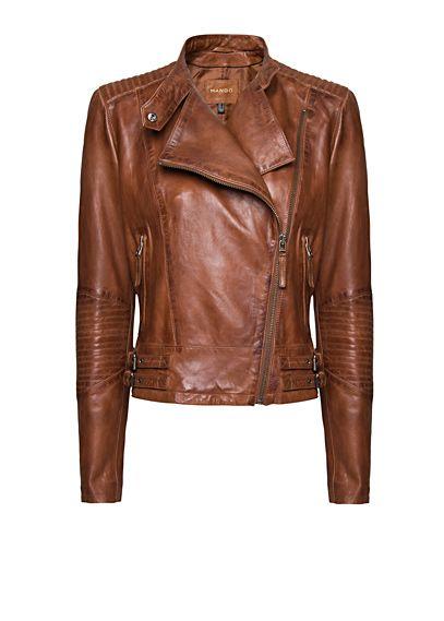 MANGO - NEW! - Veste perfecto cuir