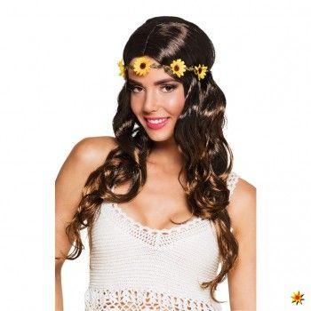 Damen Hippie Perücke Sonnenblume kaufen