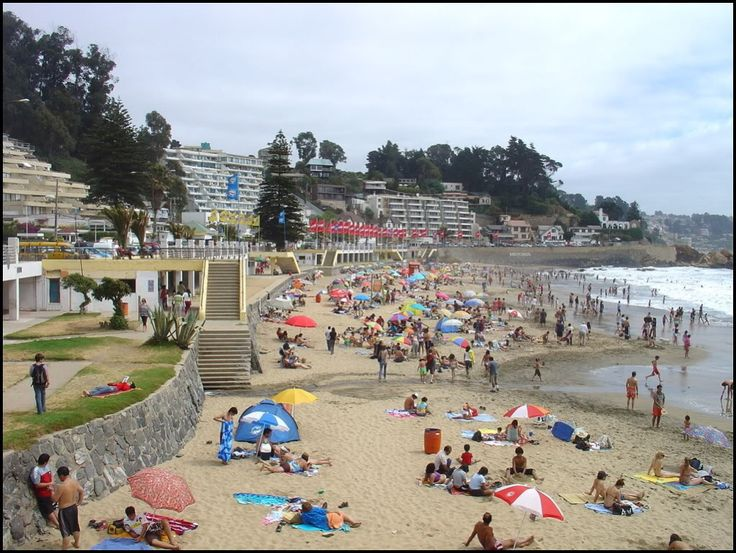 Playa de Concon  región de Valparaíso