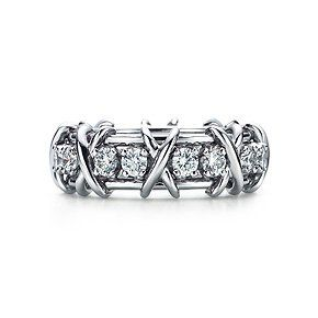 Schlumberger Sixteen Stone ring in platinum with diamonds. #lovethis