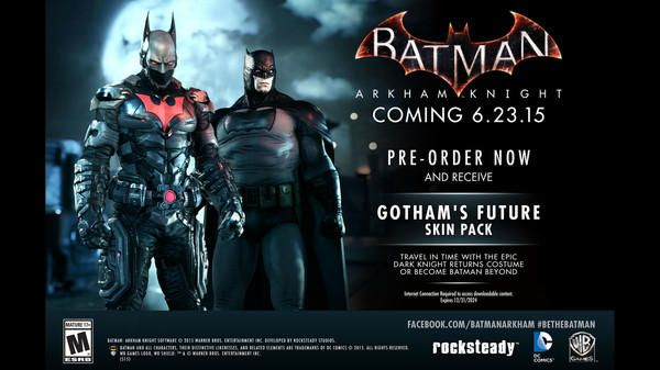 Pre-ordering Batman: Arkham Knight grants two iconic new skins for our hero