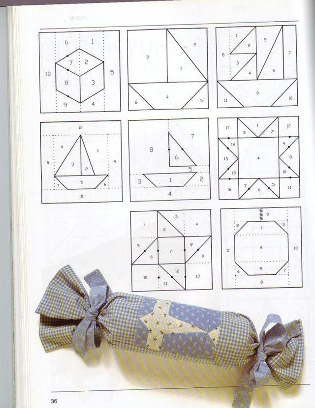Blog de polaarteemtecido :Pola  -  Arte em Tecido, Grafico 3 - outro presentinho para quem gosta de patchwork