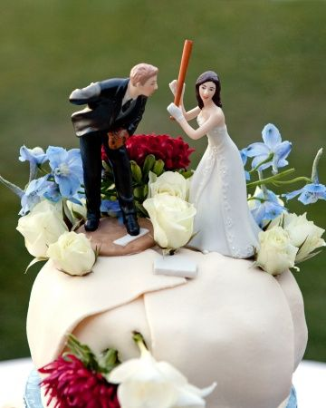 This cake topper is fit for the baseball diamond | Photo: Mike Krautter www.mikekrautter.com