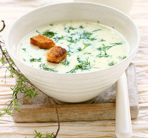 Ingrédients pour faire la recette de soupe à l'ail : des pommes de terre, de l'ail, du poireau, du pain, de l'oignon, un jaune d'œuf et de la crème fraîche.