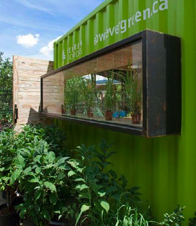 Shipping container garden window...sweet!