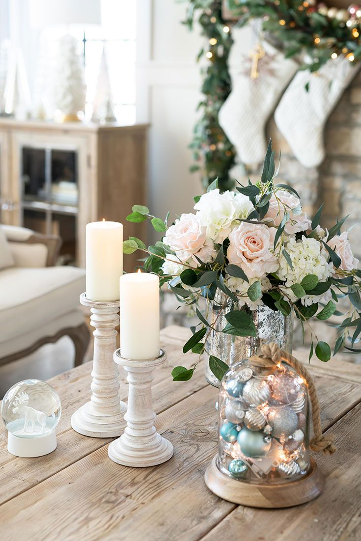 Create Simple Everlasting Silk Flower Arrangements For Your Spring Coffee Table Decora In 2020 Christmas Coffee Table Decor Decorating Coffee Tables Table Decorations