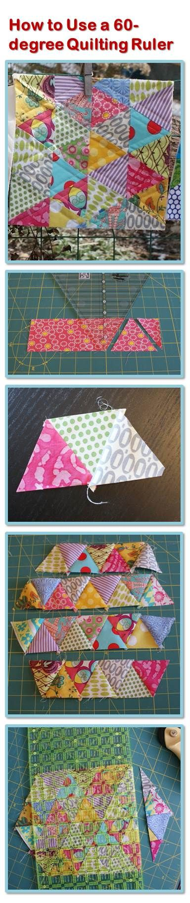 How to Use a 60-degree Quilting Ruler - Tutorial - Quilting by Andie Johnson Sews