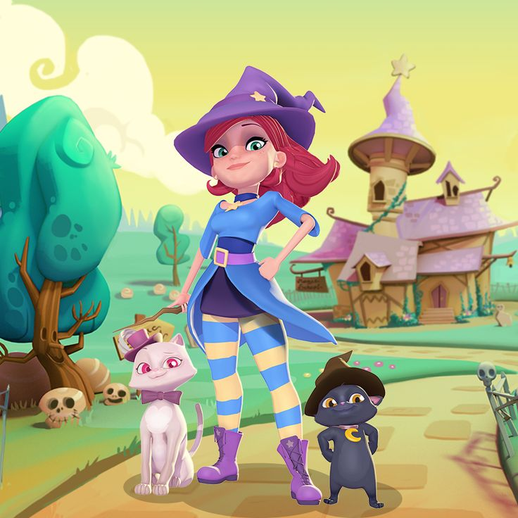 Picture from Bubble Witch 2 Saga, the game.