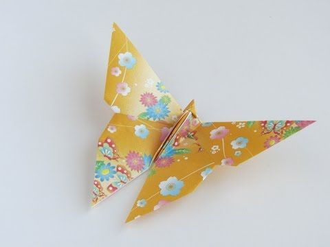 easy origami butterfly instructions