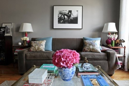 Best Grey Sofa With Blue And Pink Room Accents Not The Wall 640 x 480