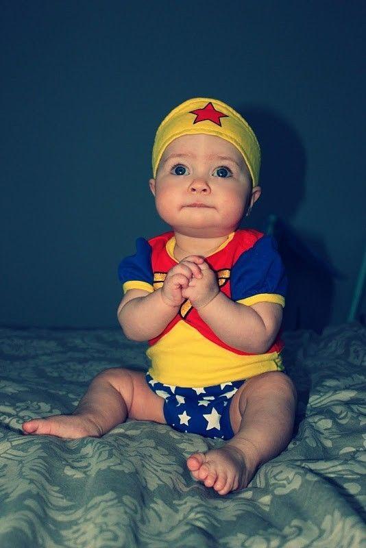 Baby Wonder Woman costume so cute!  sc 1 st  Pinterest & 10 best Laylau0027s 1st Halloween images on Pinterest | Children ...