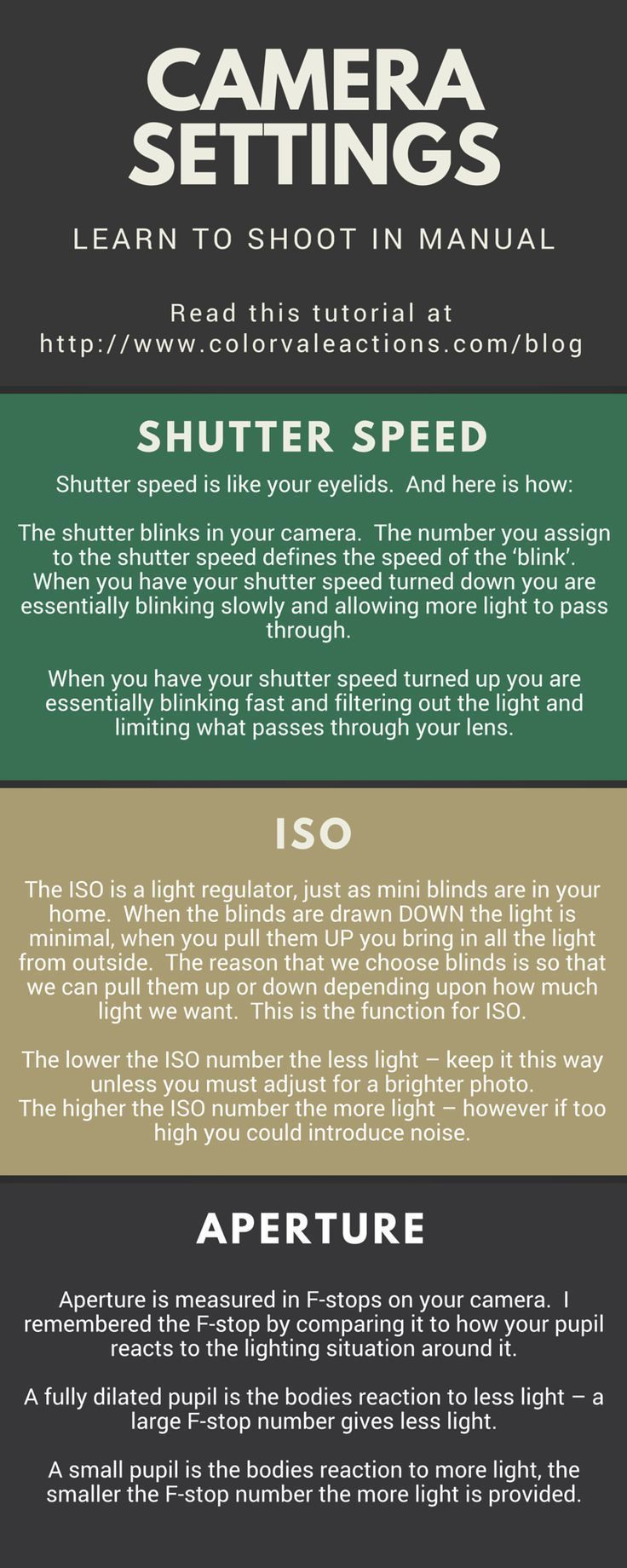 Learn How To Shoot In Manual Mode – ISO, Shutter Speed & Aperture