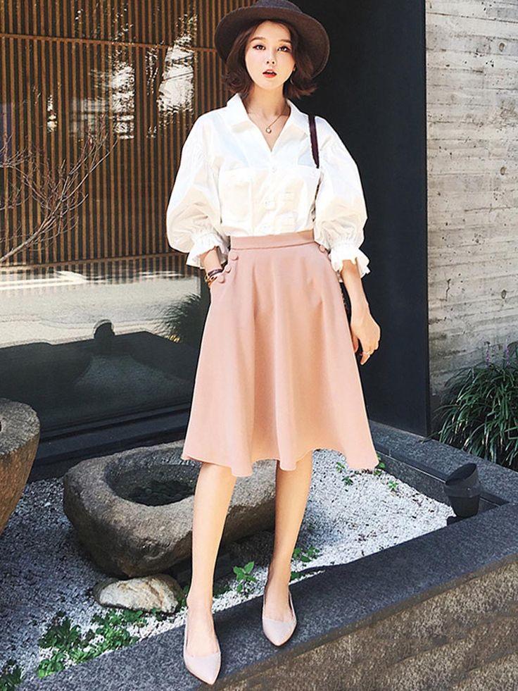 おしゃれ2点パフスリーブTシャツ+フレア裾膝丈スカート 日常お出かけデート シンプル ポケット付き レディースセットスーツ White Day Sale  期間:3/5(月)~3/12(月)  もっと多くの商品を @taidobuy でチェックしてください。  #taidobuy#新作登場#エレガント#日常生活#デート#素敵#人気高い#上質で安い#ファション#デザイン#可愛い#きれい#おしゃれ#いいね#シック#素敵#美しい#女性力アップ#魅力#快適#種類豊富#カジュアル#通勤