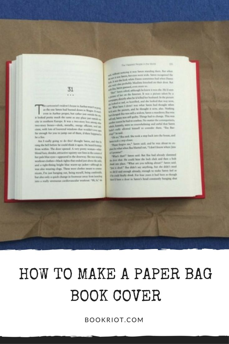 How to make a paper bag book cover (and protect your precious hardcovers!)