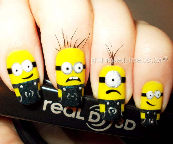 Despicable Me Minnions Nail Art