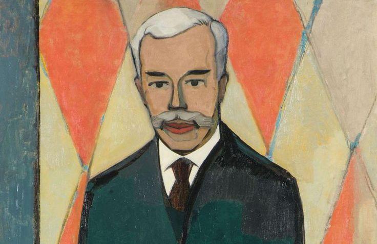 <i>Portrait de Sergueï Chtchoukine</i>, (détail) par Christian Cornelius Krohn, 1916.