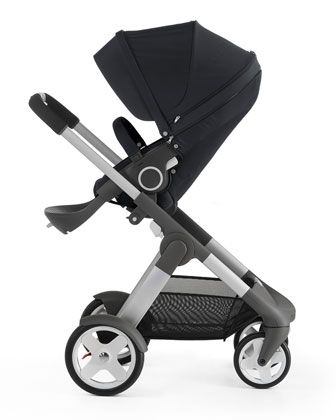 Crusi Stroller Chassis with Seat, Sibling Seat for Stokke Crusi Stroller, Carry Cot for Crusi Stroller, PramPack Stroller Cover for Travel, Footmuff for Use Stokke Xplory/Crusi Seat, Stroller Parasol & Stroller Cup Holder  by Stokke at Neiman Marcus.