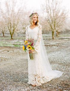 Best 25 crochet wedding dresses ideas on pinterest crochet 45 long sleeved wedding dresses for fall brides wedding party junglespirit Image collections