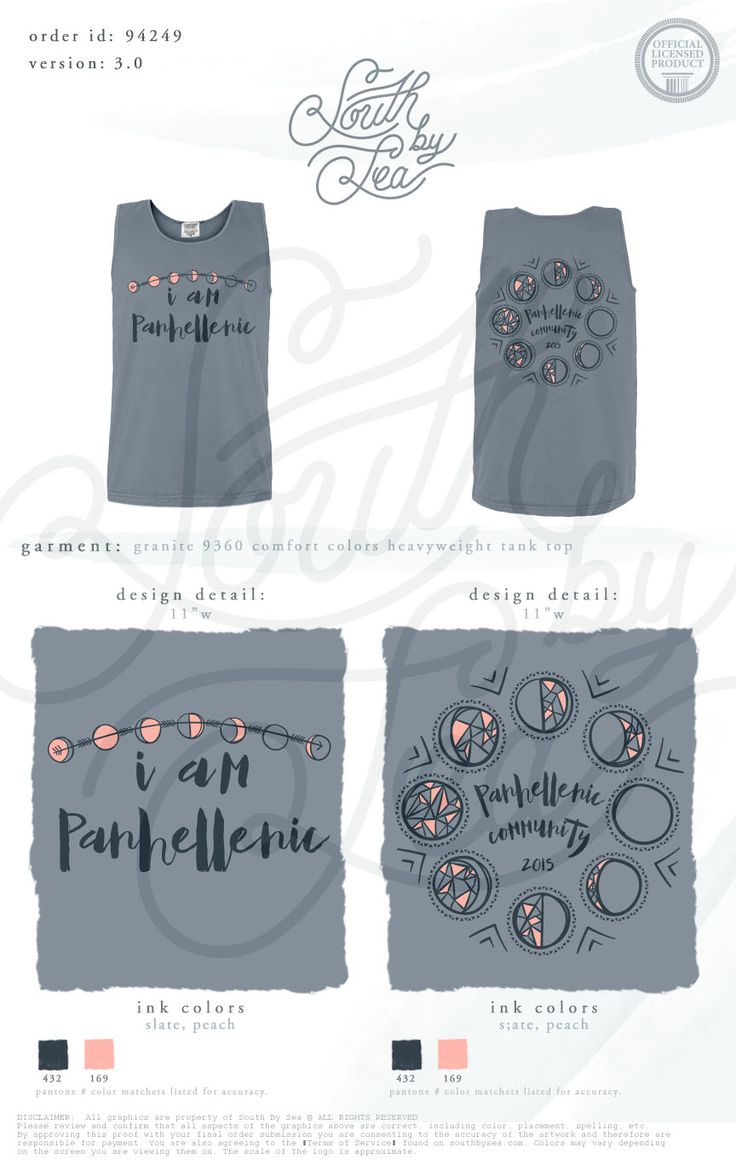 Panhellenic Shirt Inspiration | Panhellenic Community | South by Sea | Sorority Shirts | Sorority Tanks | Greek Shirts