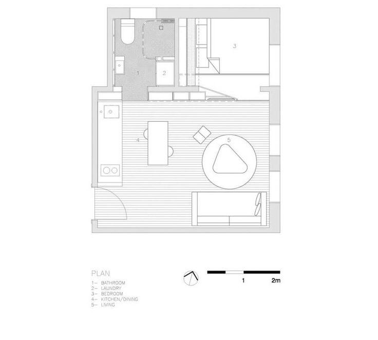 Dat een klein appartement heel ruimtelijk kan zijn, kun je zien in deze binnenkijker. Check snel de blog voor alle slimme oplossingen en het mooie ontwerp!