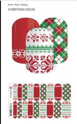 Jamberry Nail Christmas Socks Perfect For Ugly Sweater New In Package Full Sheet