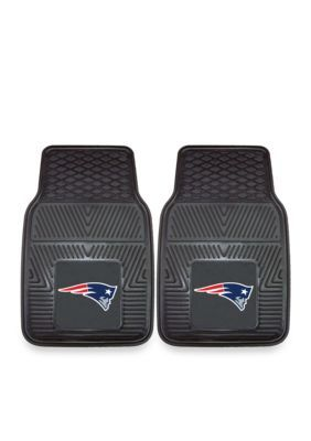 Fanmats Nfl New England Patriots 2-Piece Vinyl Car Mat Set - Black - One Size