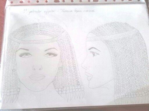Boceto del 1° peinado egipcio